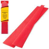 Цветная бумага крепированная BRAUBERG, стандарт, растяжение до 65%, 25 г/м<sup>2</sup>, европодвес, красная, 50х200 см, 124730