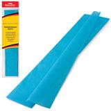 Цветная бумага крепированная BRAUBERG, стандарт, растяжение до 65%, 25 г/м<sup>2</sup>, европодвес, бирюза, 50х200 см, 124735