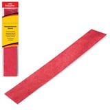 Цветная бумага крепированная BRAUBERG, металлик, растяжение до 35%, 50 г/м<sup>2</sup>, европодвес, красная, 50х100 см, 124737