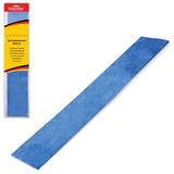 Цветная бумага крепированная BRAUBERG, металлик, растяжение до 35%, 50 г/м<sup>2</sup>, европодвес, синяя, 50х100 см, 124740