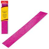 Цветная бумага крепированная BRAUBERG, металлик, растяжение до 35%, 50 г/м<sup>2</sup>, европодвес, розовая, 50х100 см, 124741