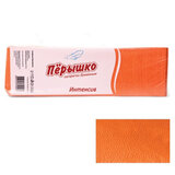 """Салфетки бумажные, 400 шт., 24х24 см, """"Перышко"""" Big Pack, оранжевые интенсив, сырье Италия, 125257"""
