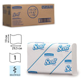 Полотенца бумажные 110 шт., KIMBERLY-CLARK Scott, комплект 16 шт., Slimfold, белые, 29,5х19 см, М-fold, диспенсер 601535, 5856