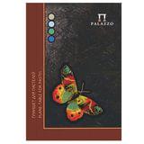 """Папка для пастели/планшет, А4, 20 л., 4 цвета, 200 г/м<sup>2</sup>, тонированная бумага, твердая подложка, """"Бабочка"""", ПБ/А4"""