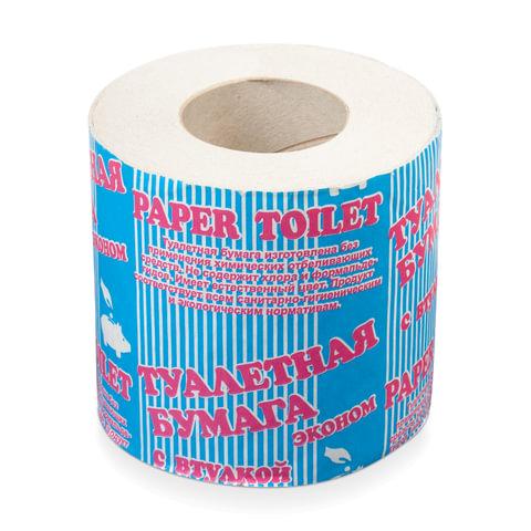 Бумага туалетная бытовая, 30 м, на втулке (эконом)