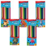 Цветной картон для квиллинга АППЛИКА, гофрированный, 10 цветов, 60 полосок (длина 295 мм, ширина 10 мм), С1913