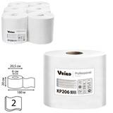 Полотенца бумажные с центральной вытяжкой VEIRO (Система M2/C1), комплект 6 шт., Comfort, 180 м, 2-слойные, белые, KP206