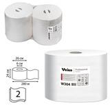 Бумага протирочная VEIRO (Система W1/W2), комплект 2 шт., 800 л./рулон, 24х35 см, 2-слойная, Premium, W304