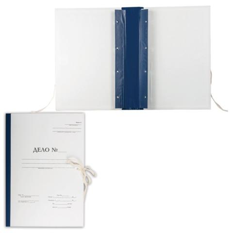 """Папка архивная для переплета """"Форма 21"""", 50 мм, с гребешками, 4 отверстия, 2 х/б завязки, 127132"""