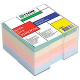 Блок для записей СТАММ в подставке прозрачной, куб 8х8х5, цветной, ПЦ01