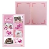 """Блокнот 7БЦ, А5, 80 л., обложка ламинированная, тонированный блок, HATBER, """"ВАНИЛЬ - I Love kitten"""", 80ББ5B5 06313, B140413"""