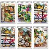 """Блокнот А6, 80 л., гребень, обложка мелованный картон, HATBER, """"Лето на велосипеде"""", 105х140 мм, 80Б6Вгр, B204672"""