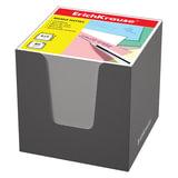 Блок для записей ERICH KRAUSE в подставке картонной серой, куб, 8х8х8 см, белый, 36985