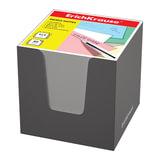 Блок для записей ERICH KRAUSE в подставке картонной серой, куб, 9х9х9 см, белый, 37007