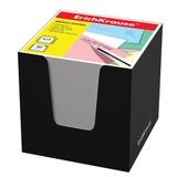 Блок для записей ERICH KRAUSE в подставке картонной черной, куб, 8х8х8 см, белый, 36984