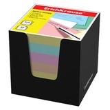 Блок для записей ERICH KRAUSE в подставке картонной черной, куб, 9х9х9 см, цветной, 37011
