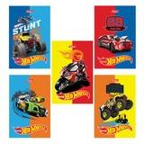 """Блокнот А7, 48 л., склейка, 3-х цветный блок, HATBER, """"Машинки-(Hot wheels)"""", 65х100 мм, 48Б7В1к, B197523"""