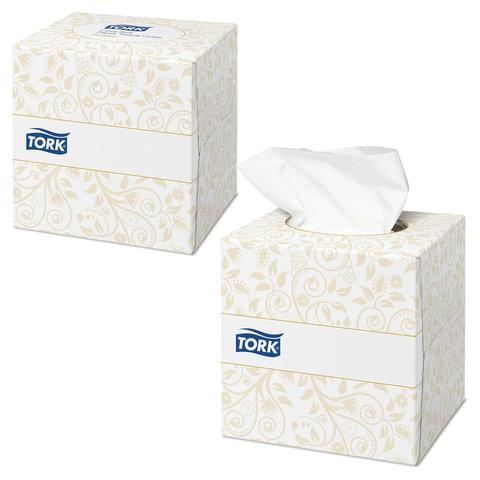 Салфетки косметические TORK (F1) Premium, 2-слойные, 100 шт., в картонном боксе, ультрамягкие, белые, 140278