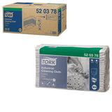 Протирочный нетканый материал 140 шт., TORK (Система W4) Premium, комплект 5 шт., серый, 38,5х42,8 см, 520378