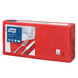Салфетки TORK Big Pack, 33х32,6, 200 шт., 2-х слойные, красные, 477210
