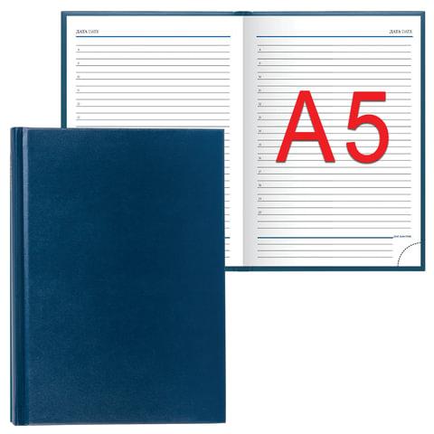 "Ежедневник ERICH KRAUSE, недатированный, А5, 148х210 мм, ""Ariane"", ""под кожу классик"", синий, 40650"