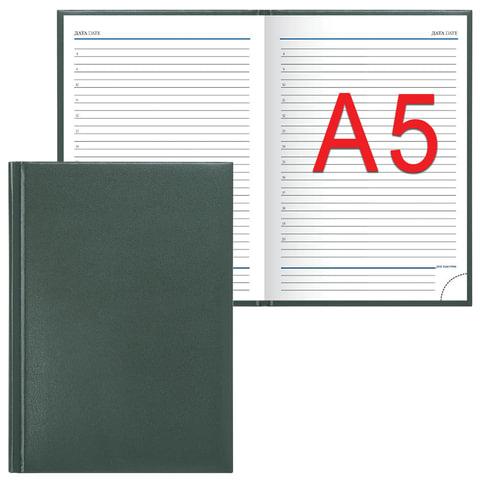 "Ежедневник ERICH KRAUSE недатированный, А5, 148х210 мм, ""Ariane"", ""под кожу классик"", зеленый, 40652"