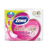 Бумага туалетная бытовая, спайка 4 шт., 4-х слойная (4х17,4 м), ZEWA Exclusive Ultra Soft, 144112