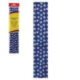 Цветная бумага крепированная BRAUBERG, звездочки, растяжение до 25%, 22 г/м<sup>2</sup>, европодвес, 50х200 см, 127937
