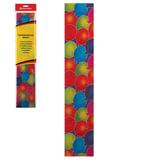 """Цветная бумага крепированная """"шарики"""", растяжение до 25%, 22 г/м<sup>2</sup>, BRAUBERG, европодвес, 50х200 см, 127939"""