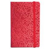 "Бизнес-блокнот BRAUBERG, А7+, 95х145 мм, ""Irida"", кожзаменитель металлик, резинка, линия, 64 л., красный, 128047"