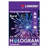 Дизайн-бумага LOMOND с голографическими эффектами (&quot;вспышка&quot;), А4, 260 г/м<sup>2</sup>, 10 листов, односторонняя, 0905041
