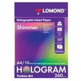 Дизайн-бумага LOMOND с голографическими эффектами (&quot;мерцание&quot;), А4, 260 г/м<sup>2</sup>, 10 листов, односторонняя, 0904041