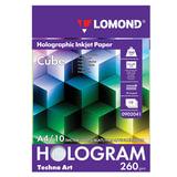 """Дизайн-бумага LOMOND с голографическими эффектами (""""куб""""), А4, 260 г/м<sup>2</sup>, 10 листов, односторонняя, 0902041"""