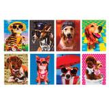 """Блокнот А7, 40 л., склейка, пластиковая 3D-обложка, BRAUBERG, """"Собаки"""", 8 видов в дисплее, 64х82 мм, 128084"""