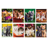 """Блокнот А7, 40 л., склейка, пластиковая 3D-обложка, BRAUBERG, """"Котята"""", 8 видов в дисплее, 64х82 мм, 128086"""