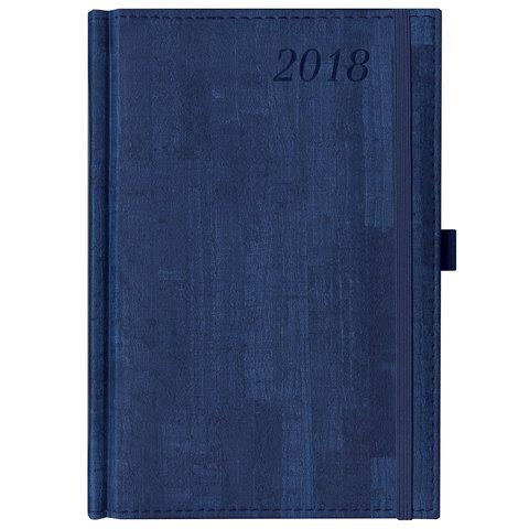 """Ежедневник датированный 2018, А5, BRAUBERG """"Wood"""", """"благородное дерево"""", синий, 138х213 мм, 128137"""