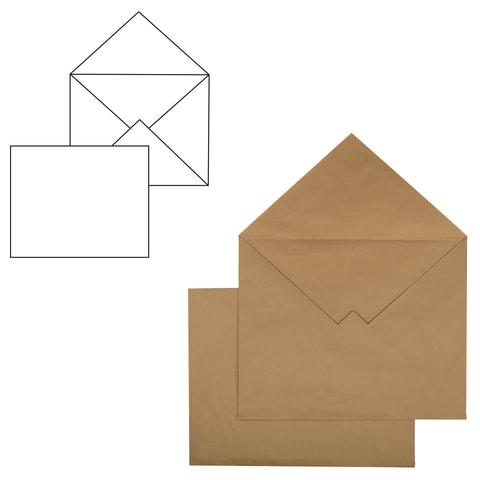 Конверт С3+, комплект 500 шт., без клеевого слоя, крафт-бумага, коричневый, треугольный клапан, 360х460 мм, 460ТК