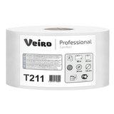 Бумага туалетная 80 м, VEIRO Professional (Система Т6), комплект 12 шт., Comfort, 2-слойная, T211