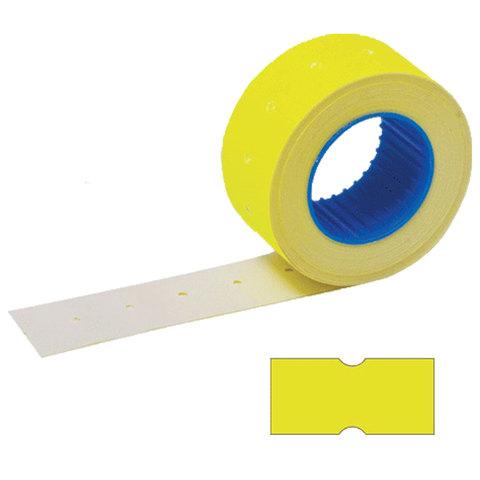 Этикетки 21х12 мм, STAFF, комплект 100 рулонов по 800 шт., прямоугольные, желтые, 128448