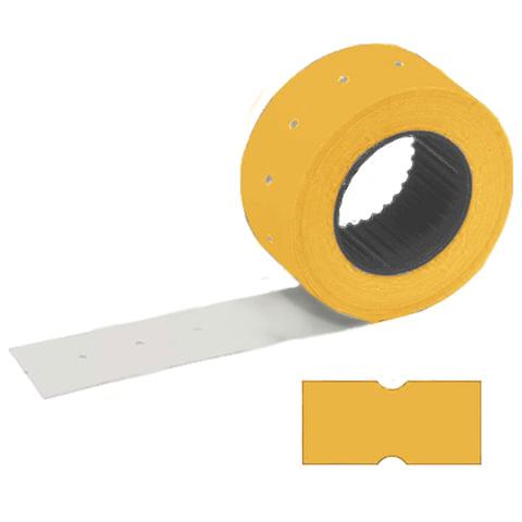 Этикетки 21х12 мм, STAFF, комплект 100 рулонов по 800 шт., прямоугольные, оранжевые, 128449