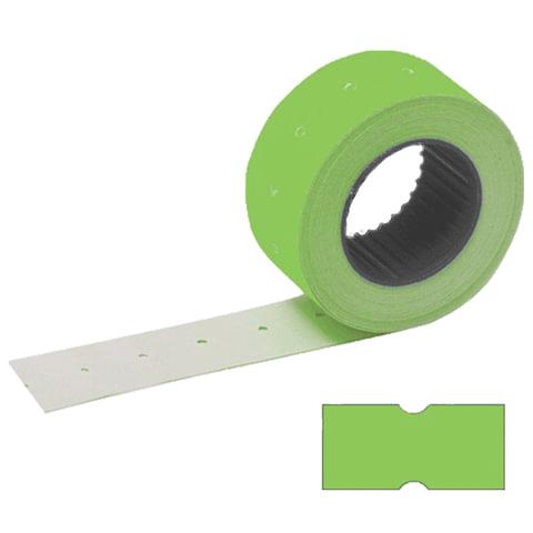 Этикетки 21х12 мм, STAFF, комплект 100 рулонов по 800 шт., прямоугольные, зеленые, 128450