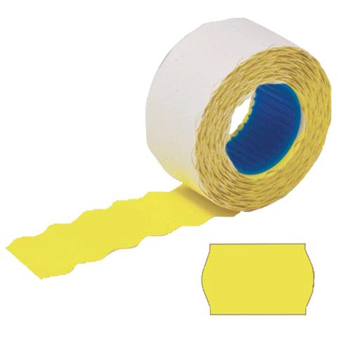 Этикетки МЕ, 26х12 мм, STAFF, комплект 100 рулонов по 800 шт., волна, желтые, 128453