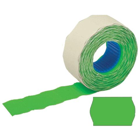 Этикетки 26х12 мм, STAFF, комплект 100 рулонов по 800 шт., волна, зеленые, 128454