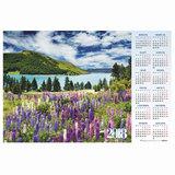 """Календарь А1 на 2018 г, HATBER, 90х60 см, горизонтальный, """"Озеро"""", Кл1 16923, K250563"""