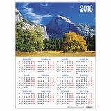 """Календарь А2 на 2018 г., HATBER, 45х60 см, вертикальный, """"Осень в горах"""", Кл2 04333, K251010"""