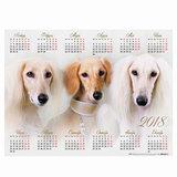 """Календарь А2 на 2018 г., HATBER, 45х60 см, горизонтальный, """"Год собаки"""", Кл2 16871, K250815"""