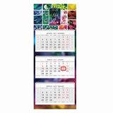 """Календарь квартальный на 2018 г., HATBER, Люкс, 3-х блочный, на 3-х гребнях, """"Жизнь в цвете"""", 3Кв3гр2 16842, K247327"""