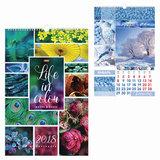 """Календарь на гребне с ригелем на 2018 г., 30х45 см, HATBER, 6 л., """"Жизнь в цвете"""", 12Кнп3гр 16842, K246481"""