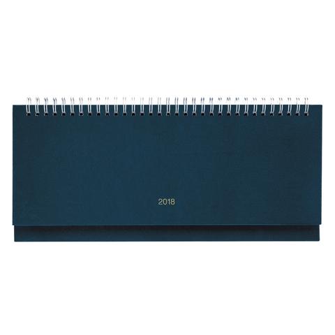 """Планинг настольный датированный 2018, ERICH KRAUSE """"Ariane"""", под кожу классик, синий, 64 л., 297х109 мм, 44094"""