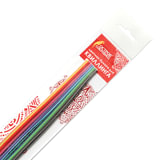 Бумага для квиллинга &quot;Цветная глазурь&quot;, 24 цвета, 120 полос, 3 мм х 300 мм, 130 г/м<sup>2</sup>, ОСТРОВ СОКРОВИЩ, 128735